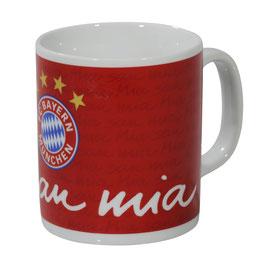 FC Bayern Kaffeebecher Mia san mia