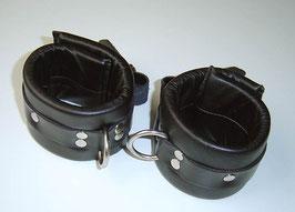 Leder Fesseln Soft schwarz