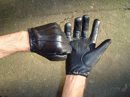 Cop Leder Handschuhe schwarz