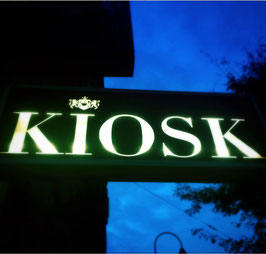 Schild Kiosk