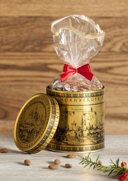 Golddose mit Original Nürnberger Elisen-Lebkuchen
