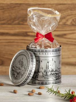 Silberdose mit Original Nürnberger Elisen-Lebkuchen