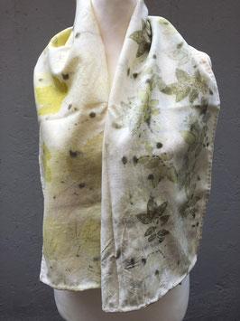 Schal mit Blätter, Ecoprint