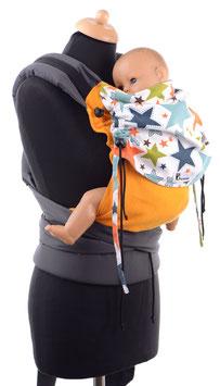Huckepack Half Buckle Baby -orange/Sterne - Tester