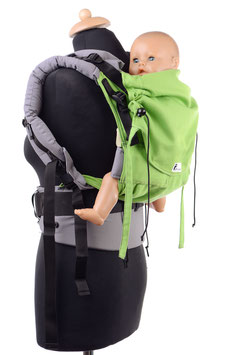 Huckepack Full Buckle Toddler-apple green/grey  (standard)