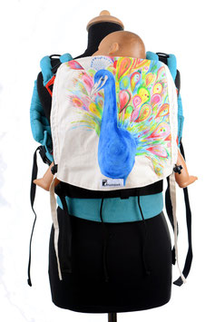 Huckepack Full Buckle Toddler-Peacock (hand painted), Girasol Koralle