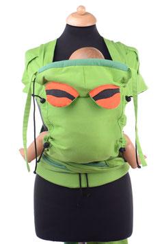 Huckepack Wrap Tai Baby-grün mit 2 abnehmbaren Kopfstützen