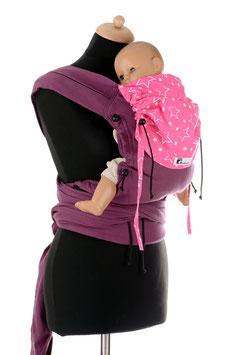Huckepack Wrap Tai Baby-lila/pinke Sterne