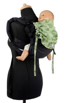 Huckepack Onbuhimo Medium-schwarz/grün gemustert