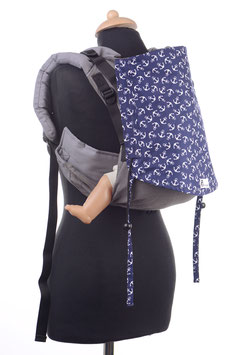 Huckepack Onbuhimo Medium-grau/dunkleblaue Anker