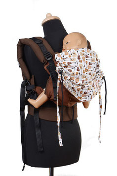 Huckepack Full Buckle Toddler-Colimacon chocolate/guitars