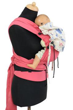 Huckepack Wrap Tai Baby-pink flamingos