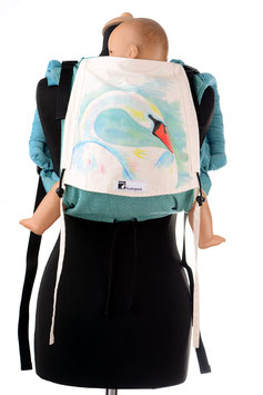 Huckepack Onbuhimo Medium-White Swan (hand painted)
