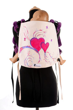 Huckepack Onbuhimo Toddler-Little hearts (hand painted)