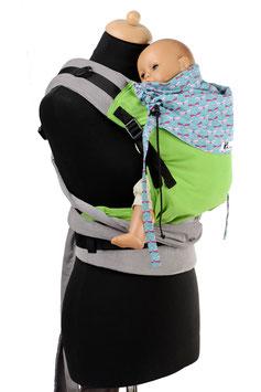Huckepack Half Buckle Toddler-grün Libellen