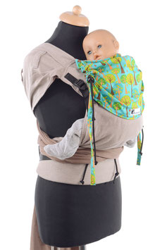 Huckepack Wrap Tai Medium- light brown/trees