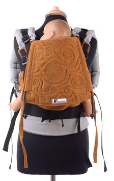 Huckepack Full Buckle Medium-Girasol Camote with embroidery