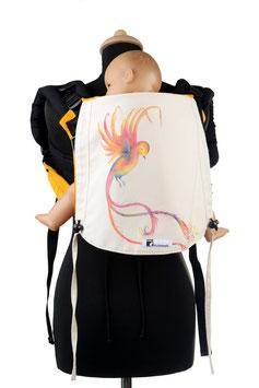 Huckepack Onbuhimo Medium-Vogel (handgemaltes Unikat)