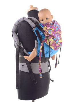 Huckepack Full Buckle toddler-türkis/lila Schmetterlinge