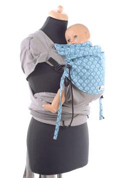 Huckepack Wrap Tai Toddler-grau/petrol Blätter