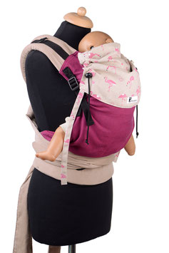 Huckepack Half Buckle Medium-Girasol Pitaya/FLamingos