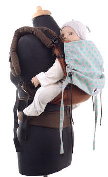 Huckepack Full Buckle Baby - braun/Sterne - Tester