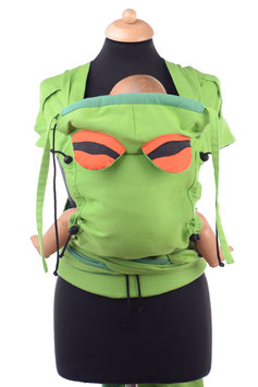 Huckepack Wrap Tai Baby-green with 2 exchangable head supports