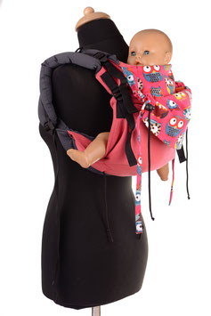 Huckepack Onbuhimo Toddler- pink Eulen