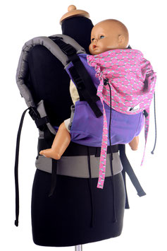 Huckepack Full Buckle Medium-lila/pinke Libellen