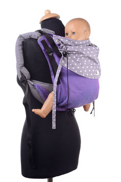 Huckepack Onbuhimo Toddler-lila/graue Sterne