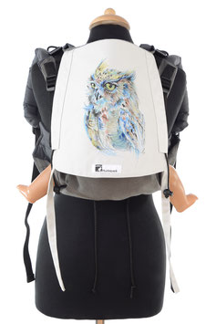 Huckepack Onbuhimo Medium - Eule (handbemaltes Unikat)