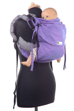 Huckepack Onbuhimo Toddler-lila/grau  (Standarddesign)