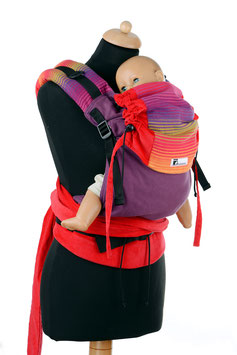 Huckepack Half Buckle Medium-Girasol Nr.26-red/purple