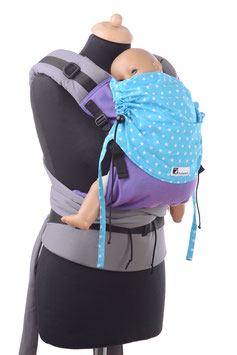Huckepack Half Buckle Medium- purple/turquoise stars