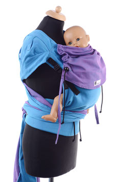 Huckepack Wrap Tai Medium-türkis/lila (Standarddesign)