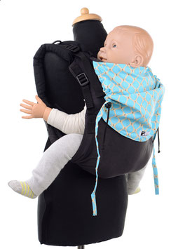 Huckepack Onbuhimo Toddler - black/blue pattern