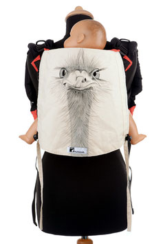 Huckepack Onbuhimo Toddler-Ostrich (hand painted)