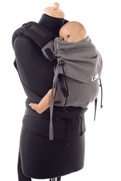 Huckepack Half Buckle medium-dunkelgrau/schwarz  (Standarddesign)