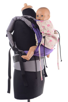 Huckepack Full Buckle Baby-lila Flamingos
