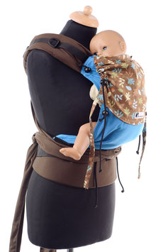 Huckepack Half Buckle Baby-Leaves