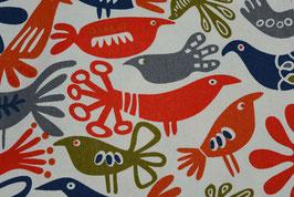 Vögel blau/rot