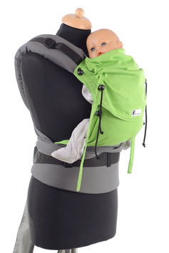 Huckepack Half Buckle Baby-apple green/grey (standard design)