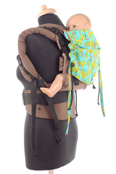 Huckepack Full Buckle Toddler-brown/turquoise trees