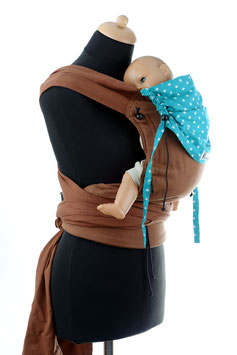 Huckepack Wrap Tai Baby-brown/emerald stars