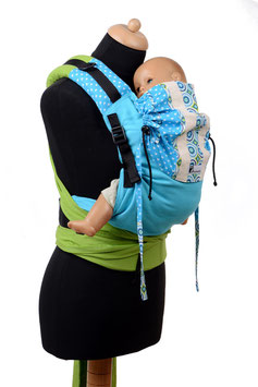 Huckepack Half Buckle Medium-Colimacon turquoise/apple green