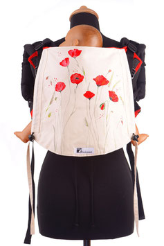 Huckepack Onbuhimo Toddler-Poppy seed (hand painted)