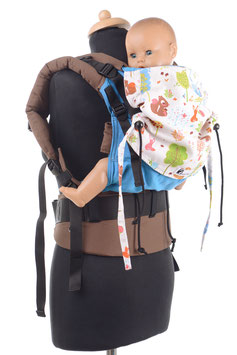 Huckepack Full Buckle medium- turqouise/ forest animals
