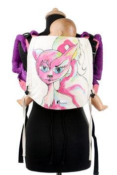 Huckepack Onbuhimo Toddler-Katze (handgemaltes Unikat)