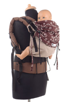 Huckepack Full Buckle medium-light brown/brown wheels