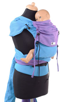 Huckepack Wrap Tai Baby-türkis/lila (Standarddesign)